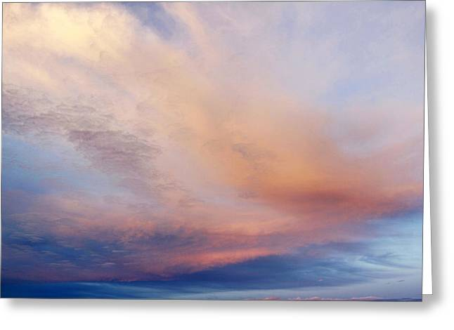Sunset Abstract Photographs Greeting Cards - Clouds Greeting Card by Les Cunliffe