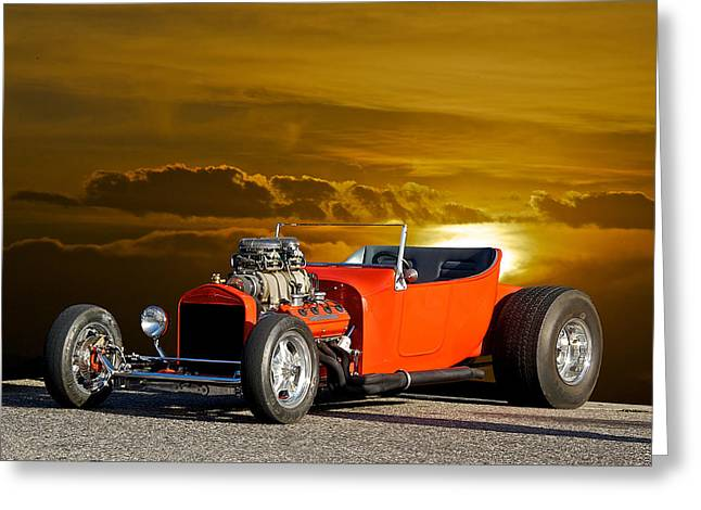 '23 Ford 'hemi T' Roadster Greeting Card by Dave Koontz