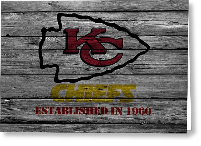 Kansas City Photographs Greeting Cards - Kansas City Chiefs Greeting Card by Joe Hamilton