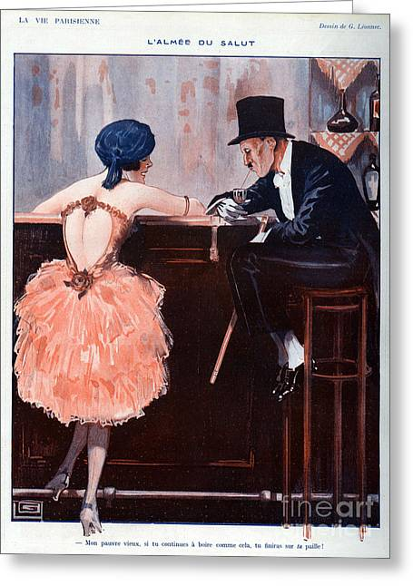 WomenÕs Drawings Greeting Cards - La Vie Parisienne  1920 1920s France Greeting Card by The Advertising Archives