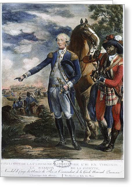 Black Boots Photographs Greeting Cards - Marquis De Lafayette Greeting Card by Granger