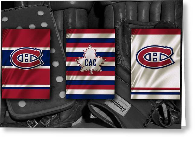 Montreal Canadiens Greeting Cards - Montreal Canadiens Greeting Card by Joe Hamilton