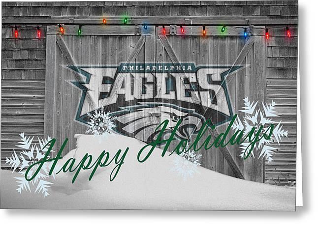 Philadelphia Greeting Cards - Philadelphia Eagles Greeting Card by Joe Hamilton