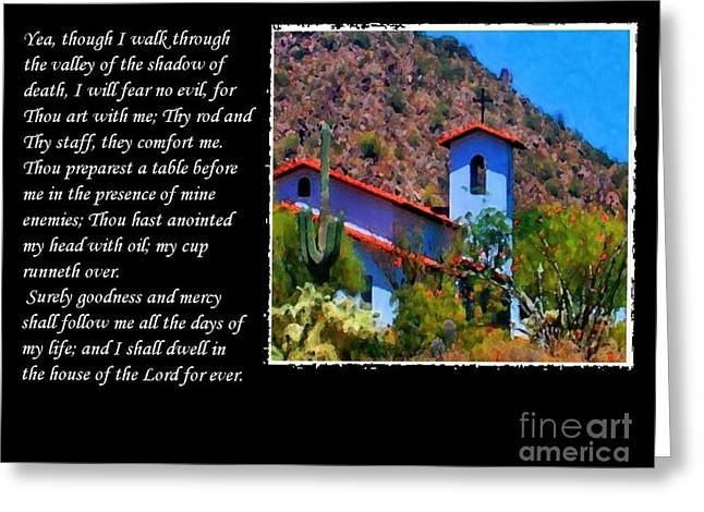 The Shadow Of Death Greeting Cards - 23 Psalm Greeting Card by Ruth Jolly