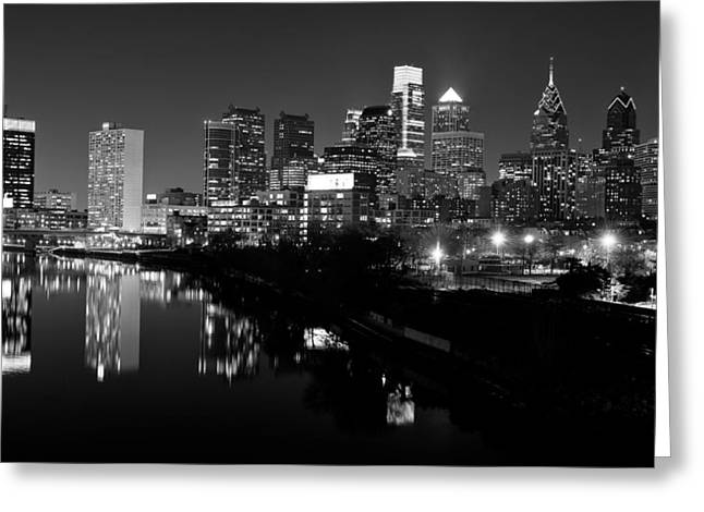 Philadelphia Skyline Greeting Cards - 23 th Street Bridge Philadelphia Greeting Card by Louis Dallara