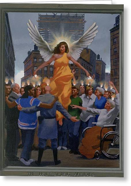 Recently Sold -  - Holy Week Greeting Cards - 23. The Holy Spirit Arrives / from The Passion of Christ - A Gay Vision Greeting Card by Douglas Blanchard