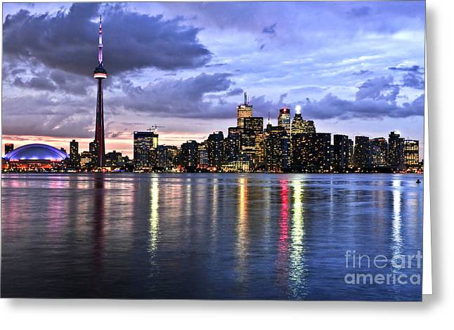 Scenic View Greeting Cards - Toronto skyline Greeting Card by Elena Elisseeva