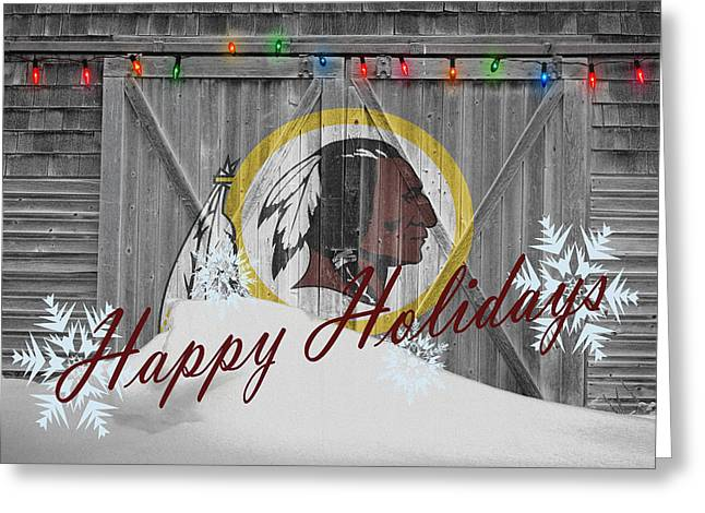 Offense Greeting Cards - Washington Redskins Greeting Card by Joe Hamilton