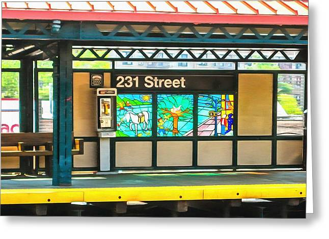Recently Sold -  - Famous Bridge Greeting Cards - 231 Street Subway Greeting Card by Mick Flynn