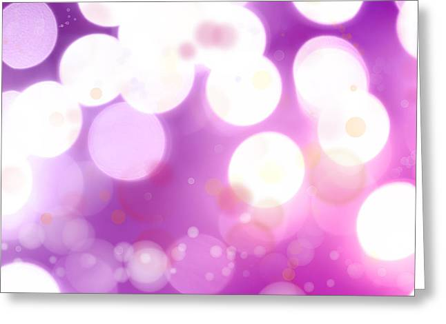 White Magic Greeting Cards - Abstract background Greeting Card by Les Cunliffe