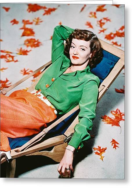 Bette Davis Greeting Cards - Bette Davis Greeting Card by Silver Screen