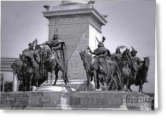 Budapest Heroes Square Greeting Card by Gregory Dyer