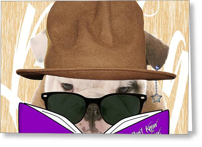 Portrait Greeting Cards - Bulldog Collection Greeting Card by Marvin Blaine