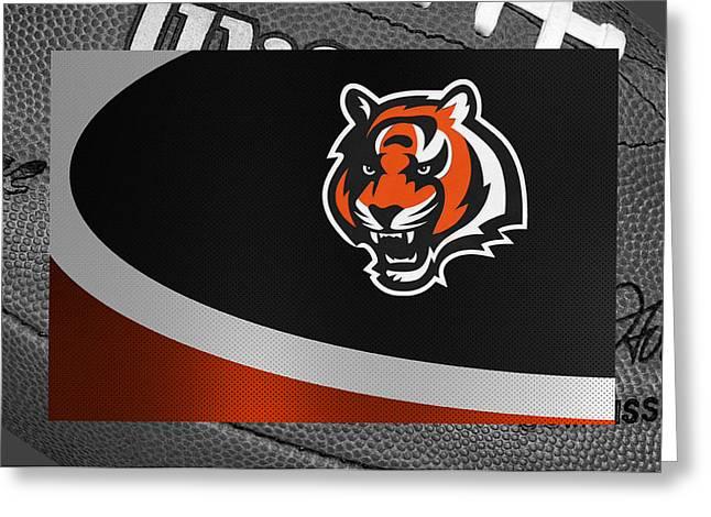 Bengal Greeting Cards - Cincinnati Bengals Greeting Card by Joe Hamilton