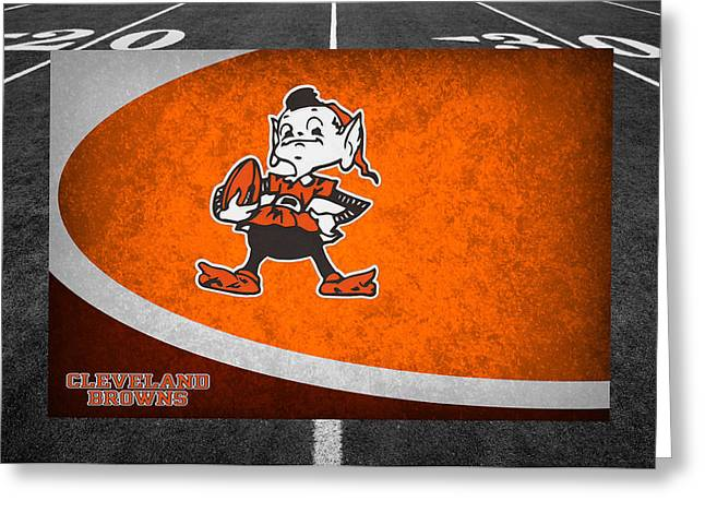 Recently Sold -  - Player Greeting Cards - Cleveland Browns Greeting Card by Joe Hamilton