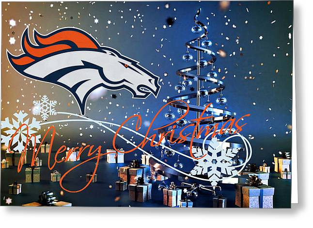 Broncos Photographs Greeting Cards - Denver Broncos Greeting Card by Joe Hamilton