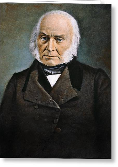 Republican Greeting Cards - John Quincy Adams Greeting Card by Granger
