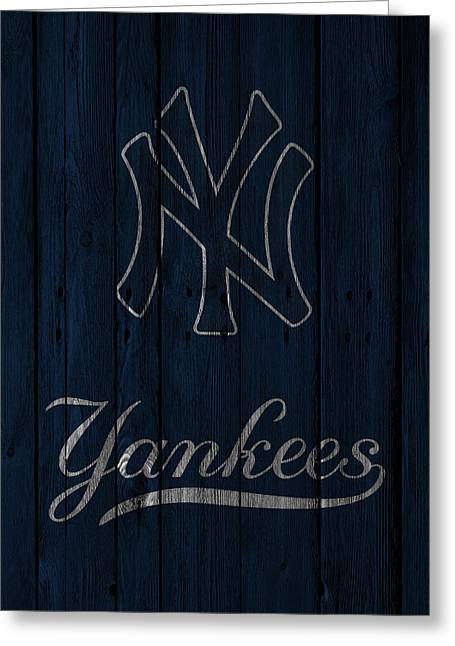 Player Photographs Greeting Cards - New York Yankees Greeting Card by Joe Hamilton