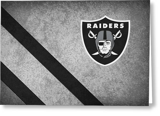 Nfl Greeting Cards - Oakland Raiders Greeting Card by Joe Hamilton