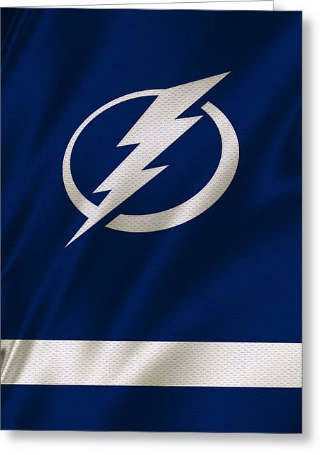 Skates Greeting Cards - Tampa Bay Lightning Greeting Card by Joe Hamilton