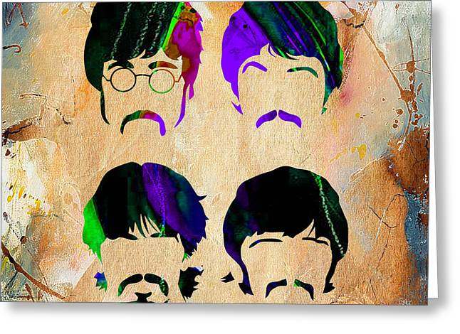 Paul Greeting Cards - The Beatles Collection Greeting Card by Marvin Blaine