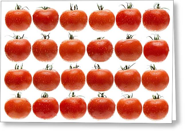 Tomato Greeting Cards - 24 Tomatoes Greeting Card by Steve Gadomski