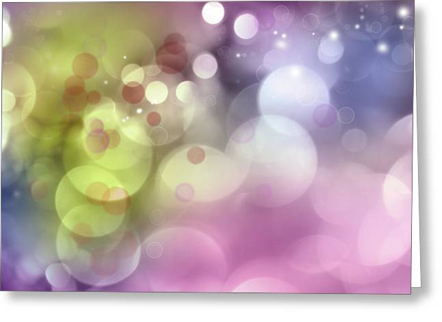 Pink Digital Greeting Cards - Abstract background Greeting Card by Les Cunliffe