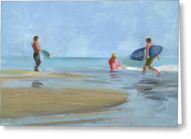 Surf Greeting Cards - RCNpaintings.com Greeting Card by Chris N Rohrbach