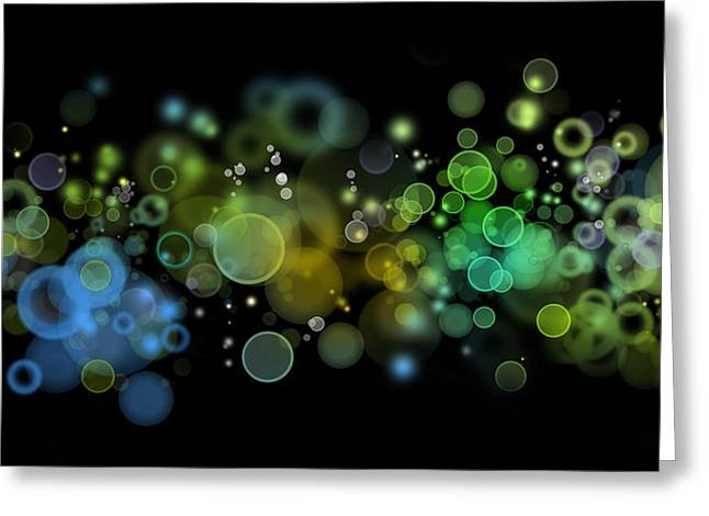 Green Abstract Greeting Cards - Abstract background Greeting Card by Les Cunliffe