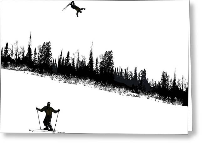 Skier Greeting Cards - 2479 Greeting Card by Peter Holme III