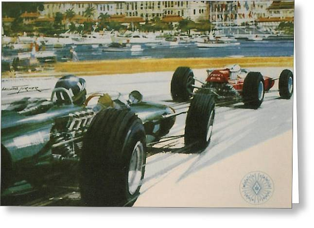 24th Monaco Grand Prix 1966 Greeting Card by Nomad Art And  Design
