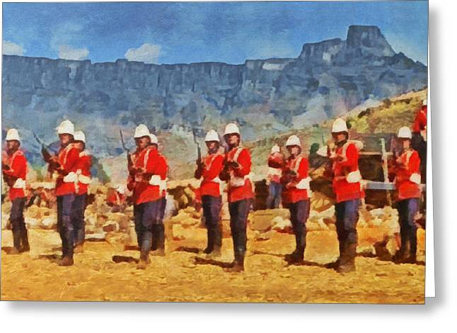 Bayonet Greeting Cards - 24th Regiment of Foot - En Garde Greeting Card by Digital Photographic Arts