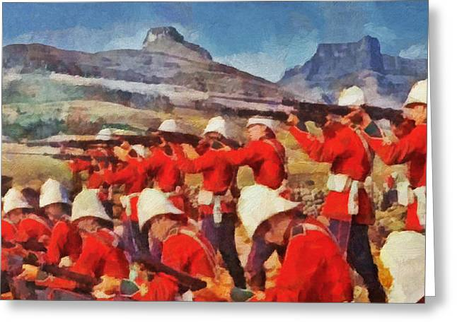 24th Regiment Of Foot - Rear Rank Fire Greeting Card by Digital Photographic Arts