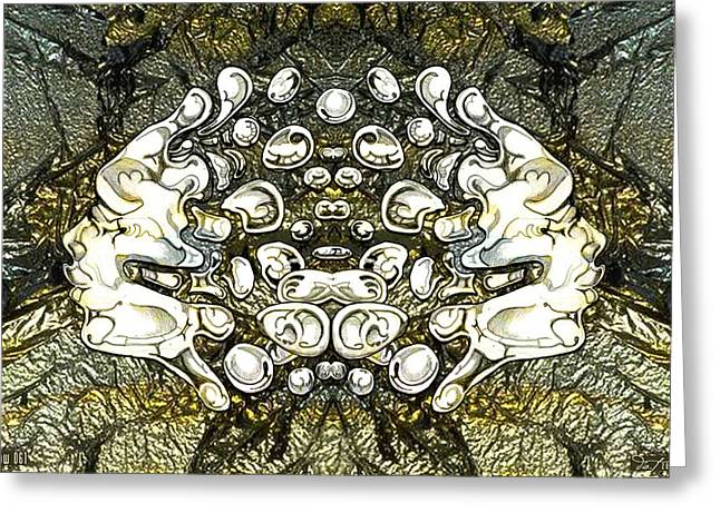 Effervescent Digital Art Greeting Cards - 24x36 Blow 061 Greeting Card by Dia T