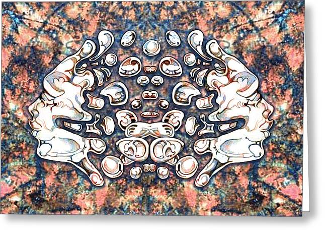Effervescent Digital Art Greeting Cards - 24x36 Blow 130 Greeting Card by Dia T