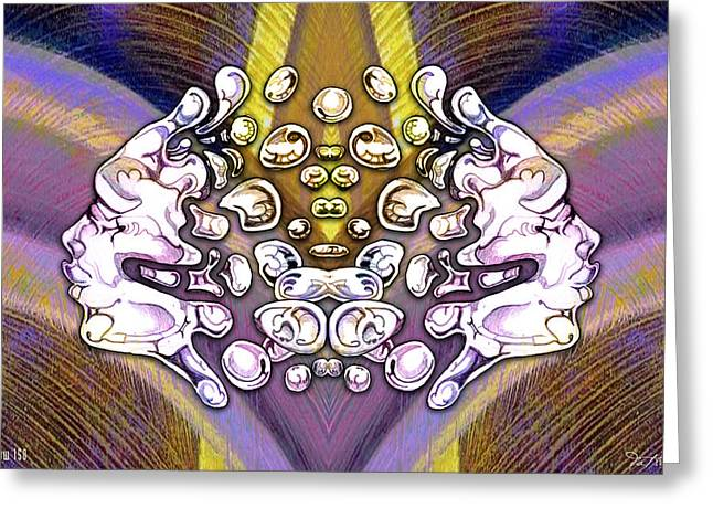 Effervescent Digital Art Greeting Cards - 24x36 Blow 150 Greeting Card by Dia T