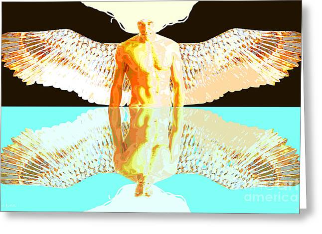 24x36 Reflective Angel BB Greeting Card by Dia T