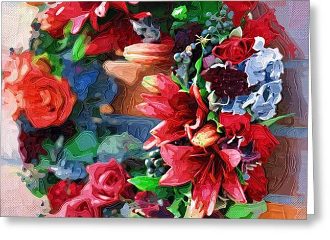 Close Up Paintings Greeting Cards - Art prints Of Flowers Greeting Card by Victor Gladkiy