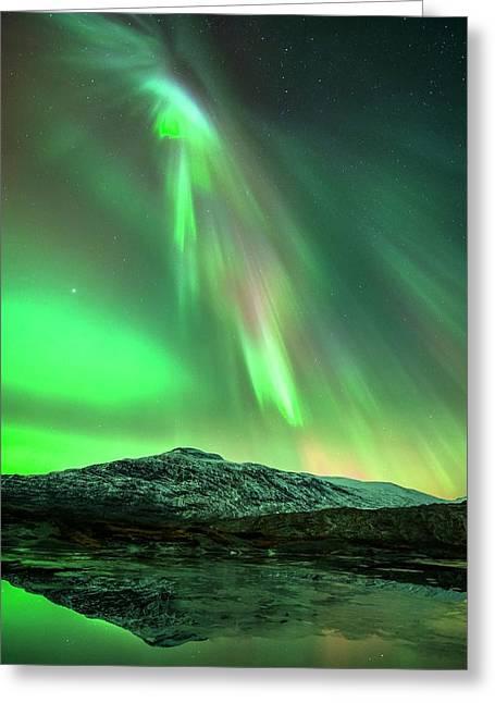 Aurora Borealis Greeting Card by Tommy Eliassen