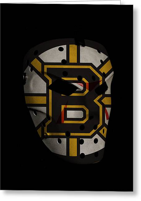 Goalie Greeting Cards - Boston Bruins Greeting Card by Joe Hamilton