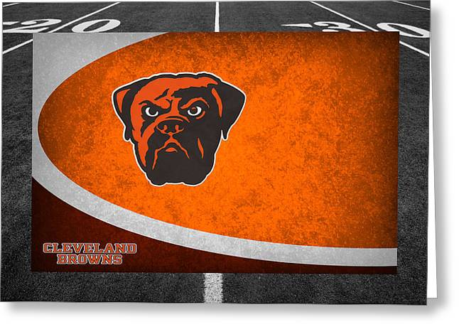 Sports Greeting Cards - Cleveland Browns Greeting Card by Joe Hamilton