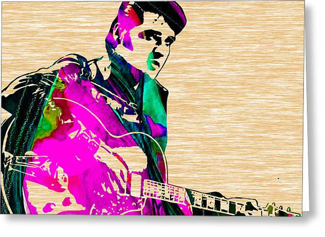 Elvis Presley Greeting Cards - Elvis Presley Collection Greeting Card by Marvin Blaine
