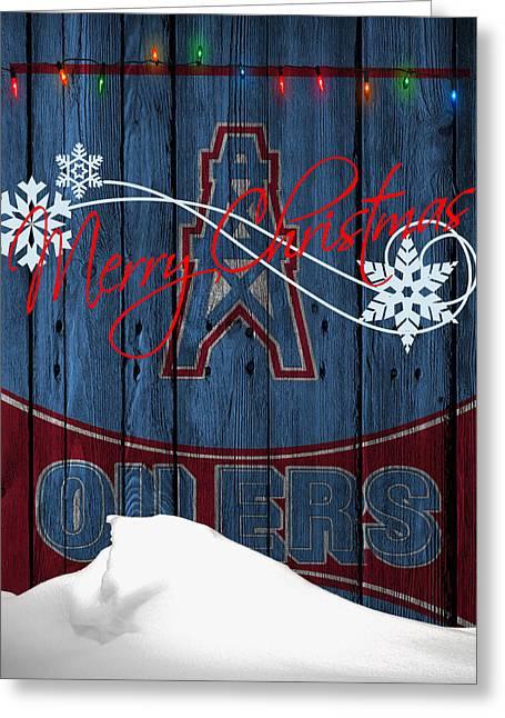 Houston Greeting Cards - Houston Oilers Greeting Card by Joe Hamilton
