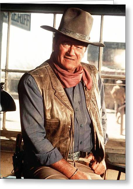 John Wayne Greeting Cards - John Wayne Greeting Card by Silver Screen