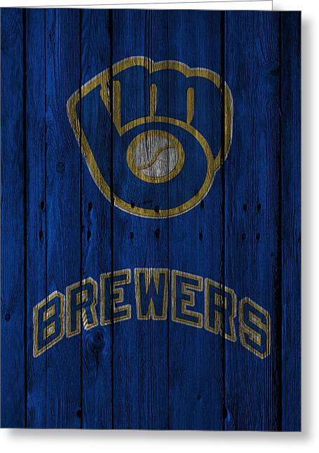 Player Photographs Greeting Cards - Milwaukee Brewers Greeting Card by Joe Hamilton