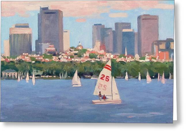 25 on the Charles Greeting Card by Dianne Panarelli Miller