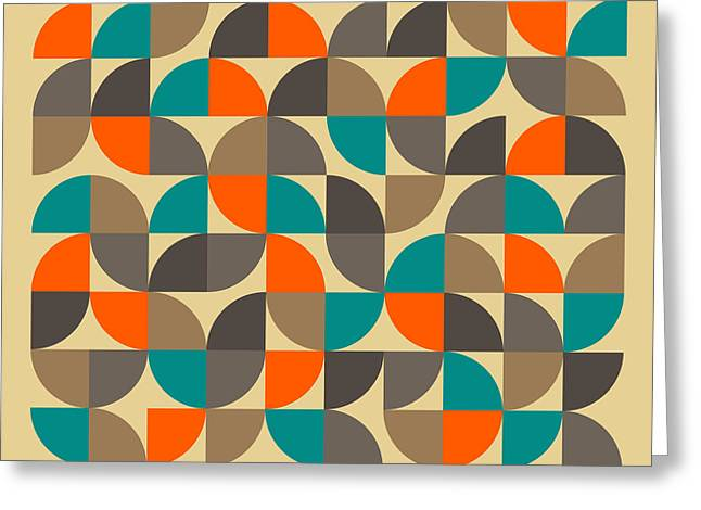 Geometric Greeting Cards - 25 Percent #4 Greeting Card by Jazzberry Blue