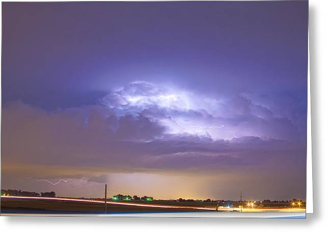 Lightning Gifts Photographs Greeting Cards - 25 to 34 Intra-Cloud Lightning Thunderstorm Greeting Card by James BO  Insogna