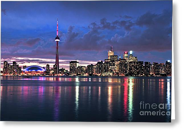 Corporate Greeting Cards - Toronto skyline Greeting Card by Elena Elisseeva