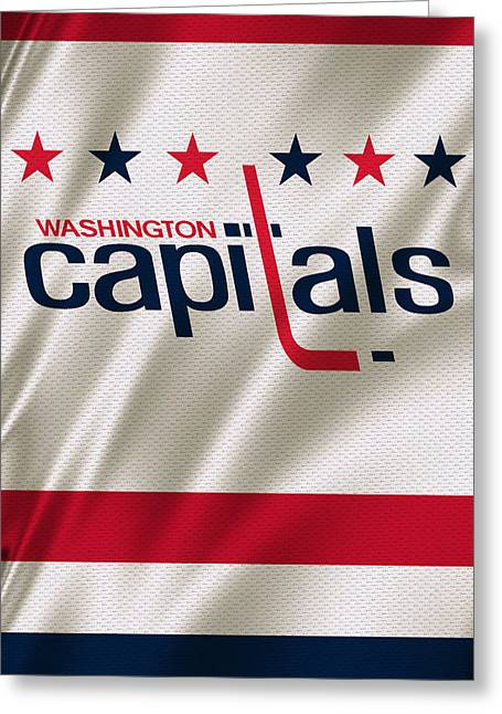 Skates Greeting Cards - Washington Capitals Greeting Card by Joe Hamilton